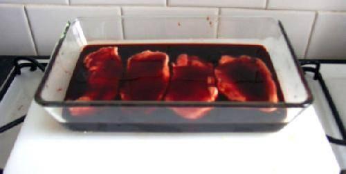 Мясо на решетке в духовке - фото шаг 3