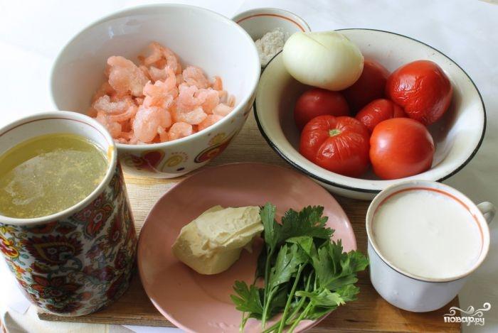 Рецепт Итальянский суп с креветками