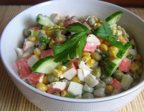 Крабовый салат рецепт классический - фото шаг 5