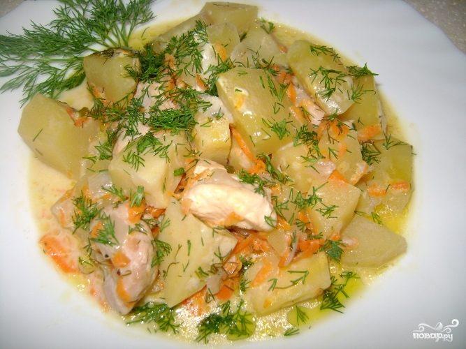 Рецепт Курица с картошкой в микроволновке