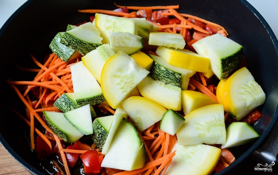 Овощное рагу со шпинатом - фото шаг 3