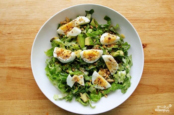 салат из свежей зелени с яйцом рецепт