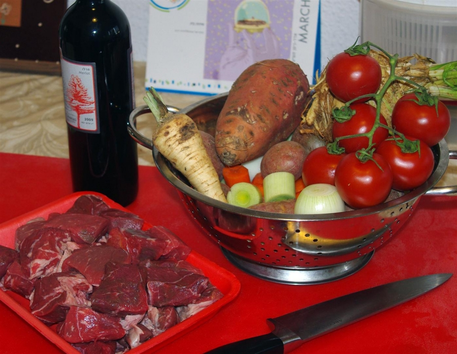 Рецепт Говядина и овощи в казане