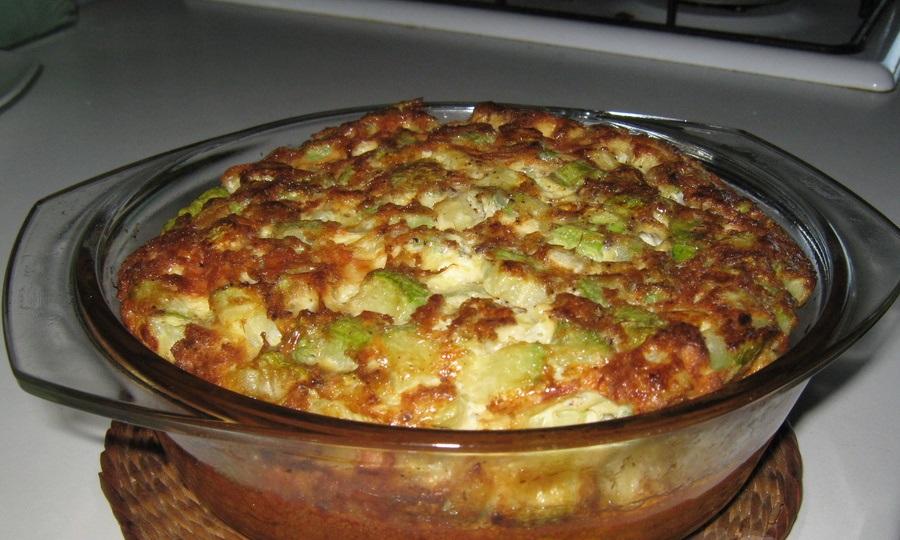 Омлет с кабачками в духовке - фото шаг 5