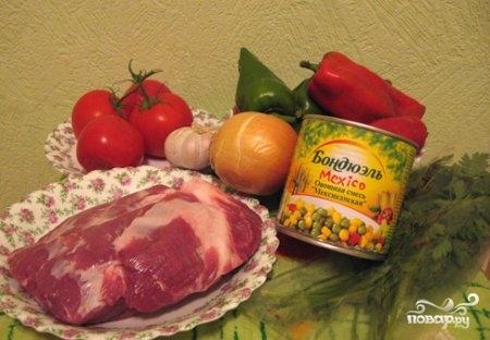 Рецепт Мясо по-мексикански