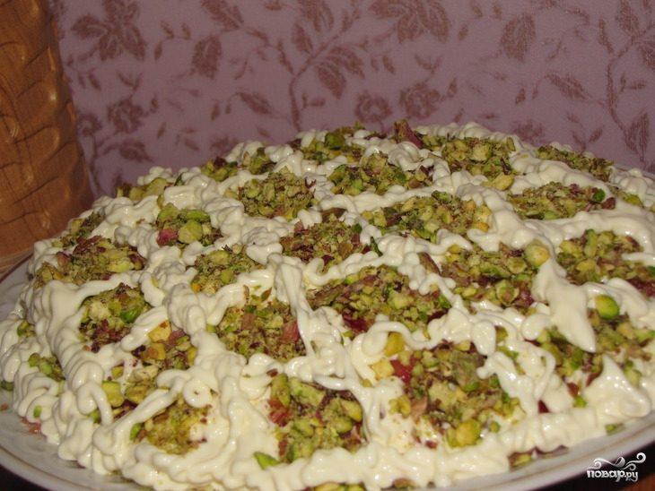 салат с фисташками пошаговый рецепт