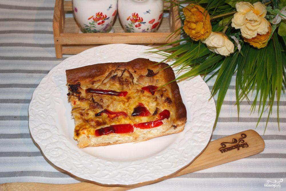 Пирог с перцем и капустой