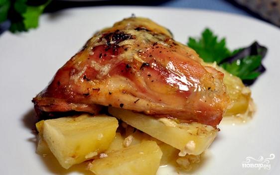 Куриные ножки с картошкой  - фото шаг 5