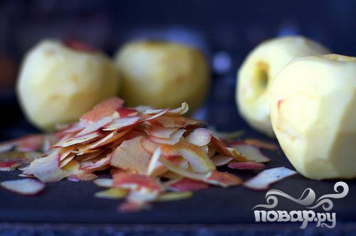 Перевернутый яблочный пирог с медом и имбирем - фото шаг 1