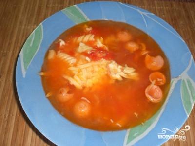 Итальянский суп с сосиской