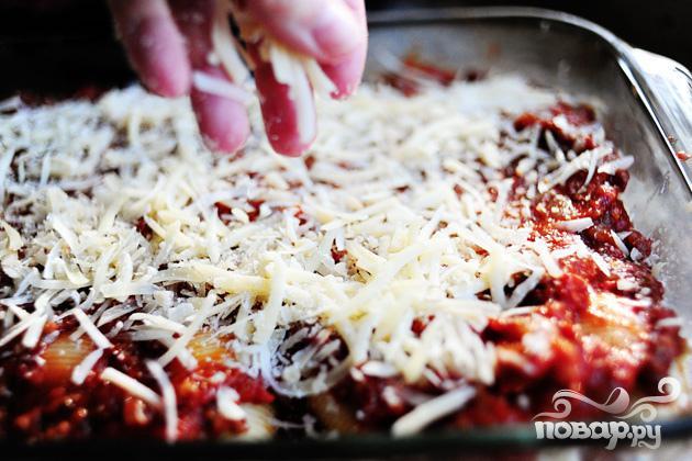 Макароны Ракушки с сыром и томатным соусом - фото шаг 7