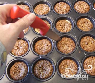 Двухслойное печенье с орехами - фото шаг 5