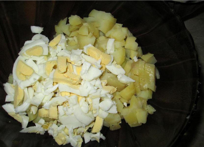 Рецепт Салат в апельсиновых корзиночках