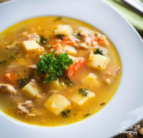 Суп со свиными ребрышками