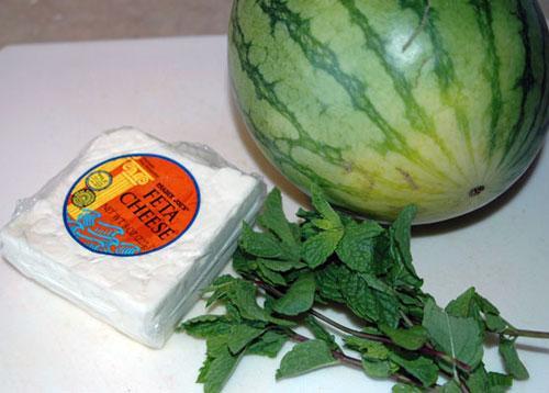 Греческий сыр с мятой в Арбузе - фото шаг 1