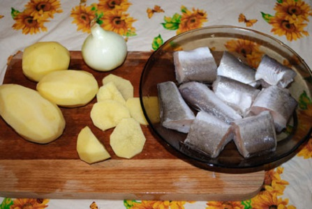 Рецепт Рыба с картошкой в фольге