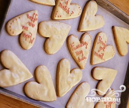 Рецепт Печенье-сердечки с белым шоколадом