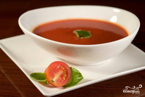 Рецепт Суп-пюре из свежих помидоров