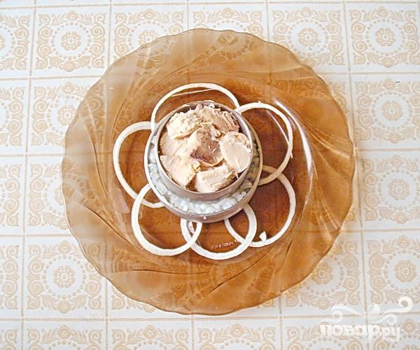 """Белый"" салат с куриной грудкой - фото шаг 4"