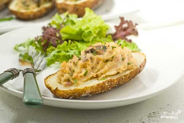 Рецепт Картофель запеченный с шампиньонами