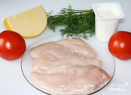 Рецепт Отбивные из куриного филе в духовке с помидорами