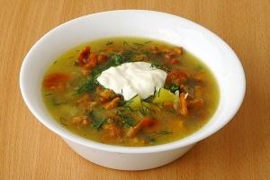 Суп грибной из лисичек - фото шаг 10