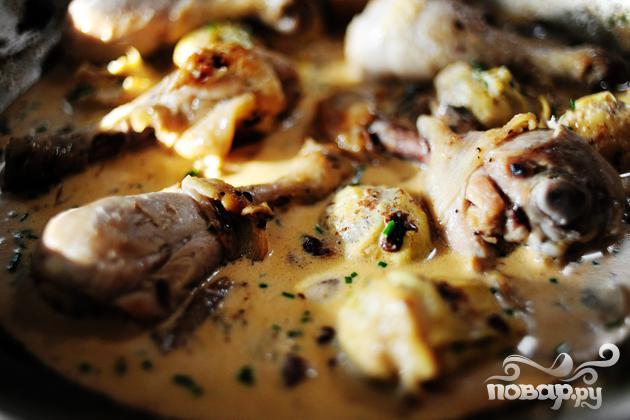 Курица с грибами и артишоками - фото шаг 12