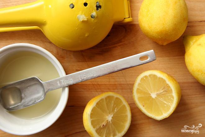 Лимонный кекс в глазури - фото шаг 1