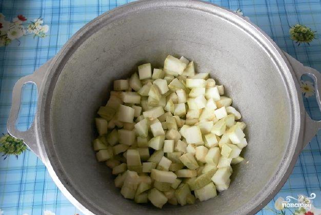 Овощное рагу со свининой и кабачками - фото шаг 3