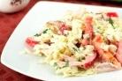 Салат с курицей и кальмарами