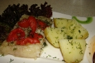 Пангасиус в фольге с овощами
