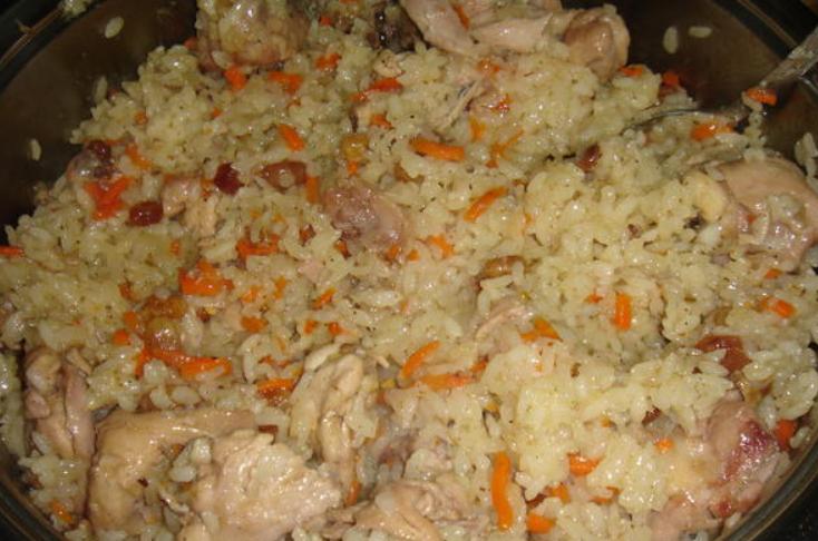 Плов из курицы быстрый рецепт фото