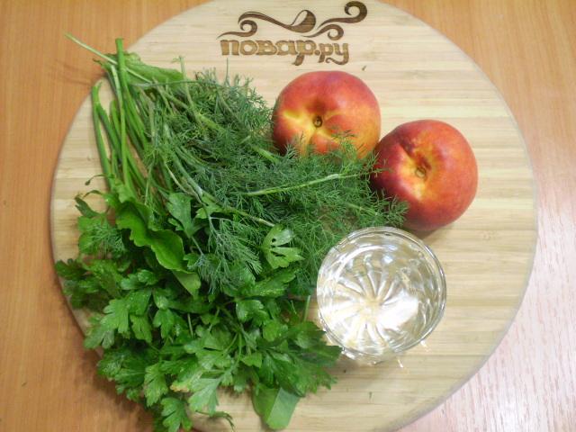 Рецепт Зеленый коктейль с нектарином
