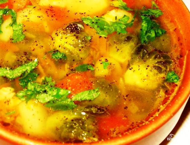 овощной суп с брюссельской капустой рецепт с фото