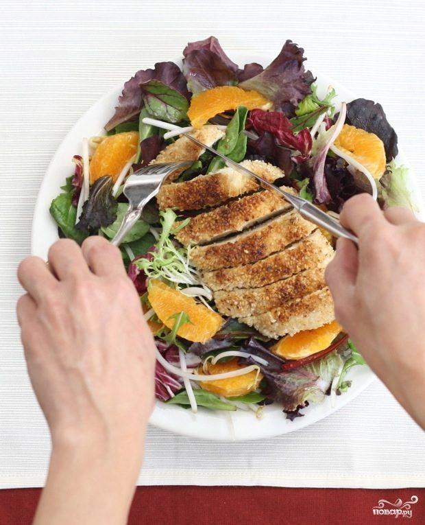 Рецепт Новогодний салат с курицей