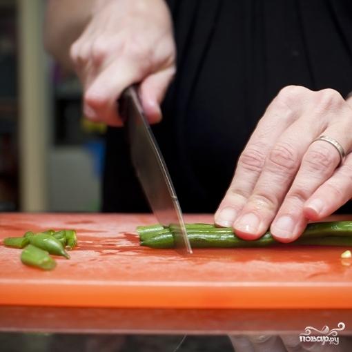 Рецепт Фасоль стручковая жареная