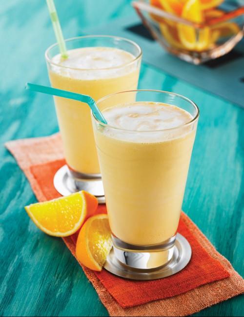 Рецепт Апельсиновый коктейль смузи