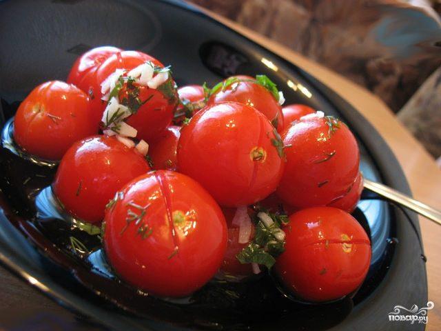 Рецепт Малосольные помидоры быстрого приготовления