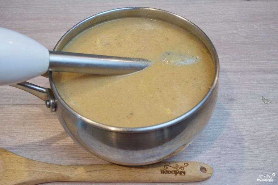 Суп с запеченными баклажанами - фото шаг 5