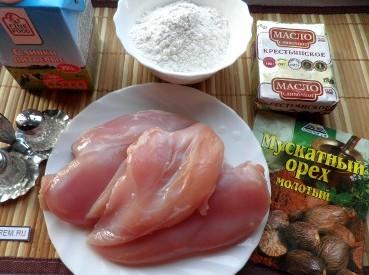 Рецепт Фрикасе из курицы со сметаной