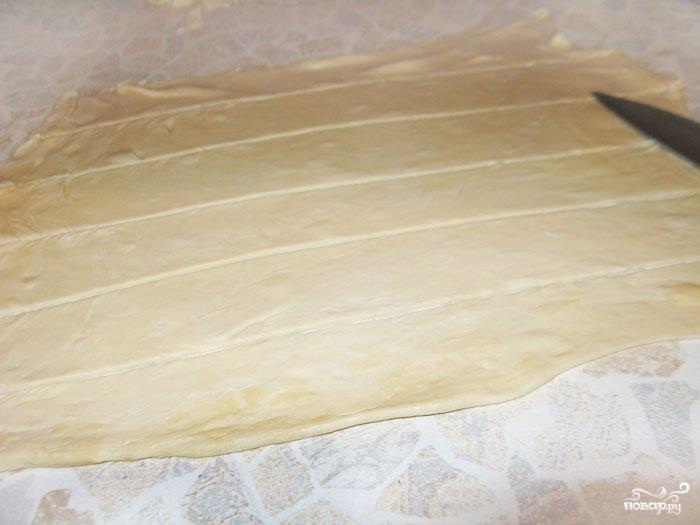 Пирог с повидлом из слоеного теста - фото шаг 4