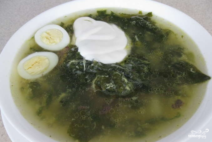 Суп из шпината - фото шаг 4