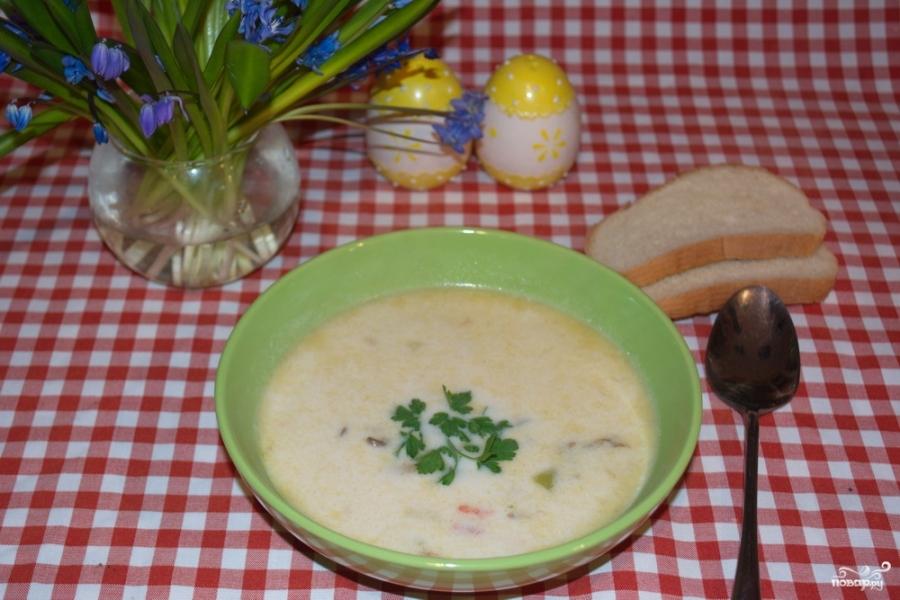 Грибной суп из вешенок с плавленным сыром рецепт пошагово в 86