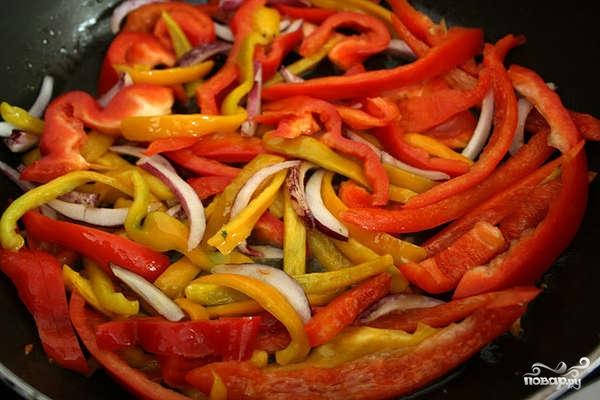 Рецепт Креветки со сладким перцем