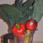 Рецепт Витаминный напиток из сладкого перца, кинзы и яблока