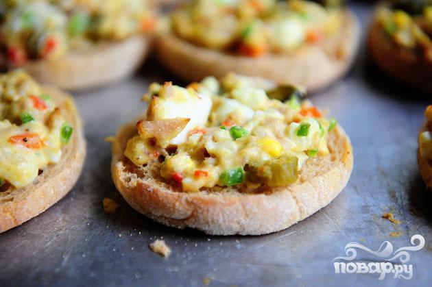 Запеченные булочки с тунцом и сыром - фото шаг 4