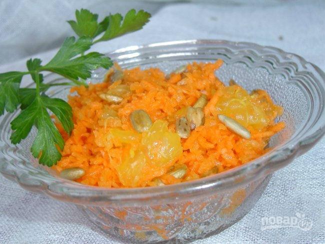 Постные салаты из моркови рецепты с простые и вкусные