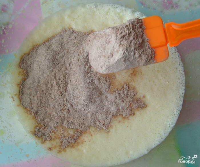 Шоколадно-кокосовый торт - фото шаг 1