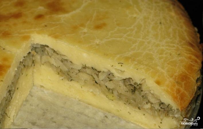 Картофельный пирог с луком - фото шаг 8