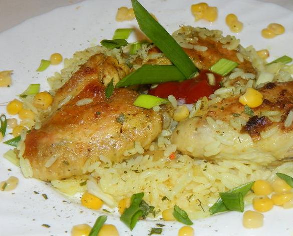 Курица в духовке с рисом - фото шаг 3